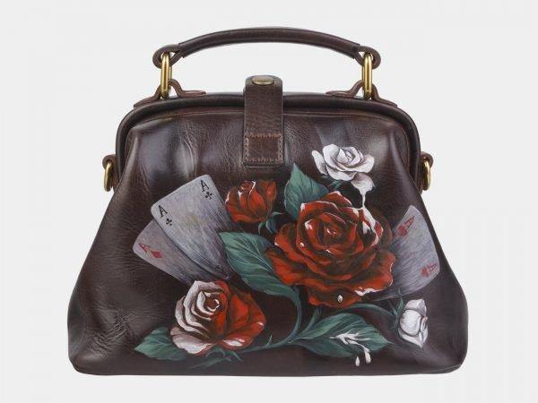 Солидная коричневая сумка с росписью ATS-2380