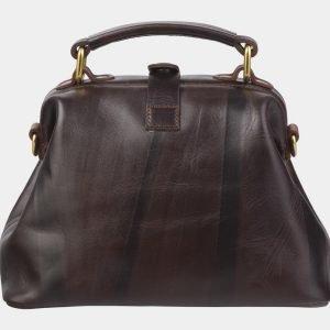 Солидная коричневая сумка с росписью ATS-2380 215351