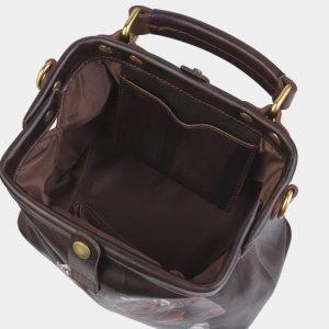 Солидная коричневая сумка с росписью ATS-2380 215352