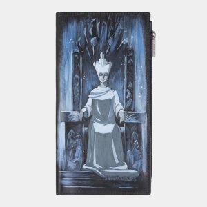 Уникальный черный портмоне с росписью ATS-2384