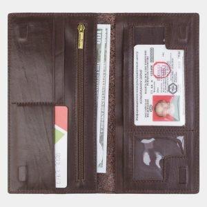 Солидный коричневый портмоне с росписью ATS-2385 215334