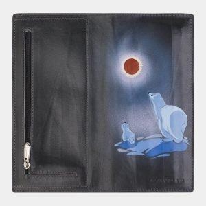Модный серый портмоне с росписью ATS-2386 215329
