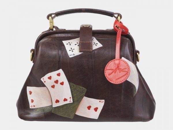 Стильная коричневая сумка с росписью ATS-2389