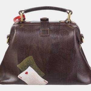 Стильная коричневая сумка с росписью ATS-2389 215316