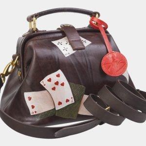 Стильная коричневая сумка с росписью ATS-2389 215315