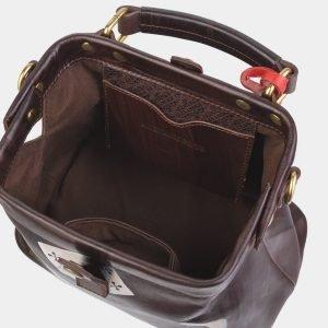 Стильная коричневая сумка с росписью ATS-2389 215317