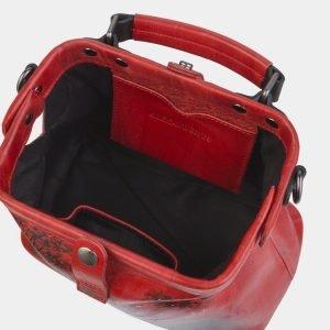 Солидная красная сумка с росписью ATS-2390