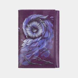 Уникальный фиолетовый аксессуар с росписью ATS-2406