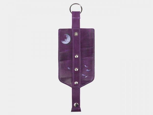 Деловой фиолетовый аксессуар с росписью ATS-2418