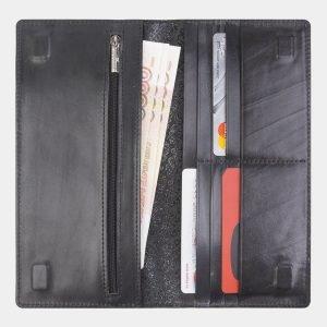 Кожаный черный портмоне с росписью ATS-2408 215266