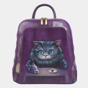 Удобный фиолетовый рюкзак с росписью ATS-2411