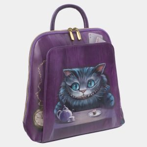 Стильный фиолетовый рюкзак с росписью ATS-2411 215260