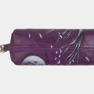 Удобный фиолетовый аксессуар с росписью ATS-2404