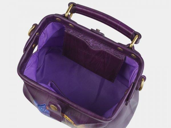 Солидная фиолетовая сумка с росписью ATS-2422