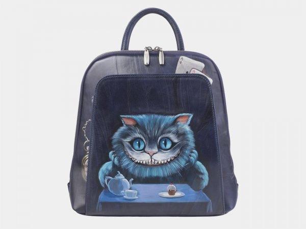 Солидный синий рюкзак с росписью ATS-2420