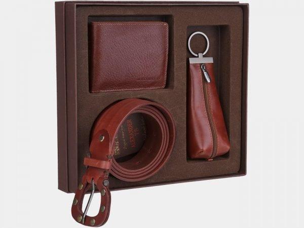 Удобный светло-коричневый подарочный набор ATS-1828