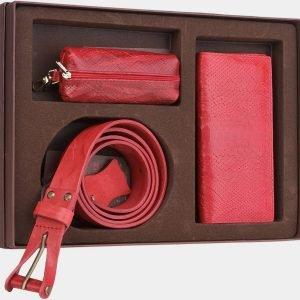 Солидный красный подарочный набор ATS-1833