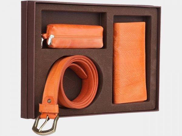 Стильный оранжевый подарочный набор ATS-1836