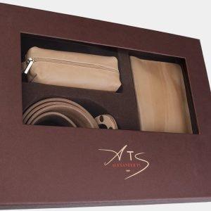 Деловой бежевый подарочный набор ATS-1837 216235