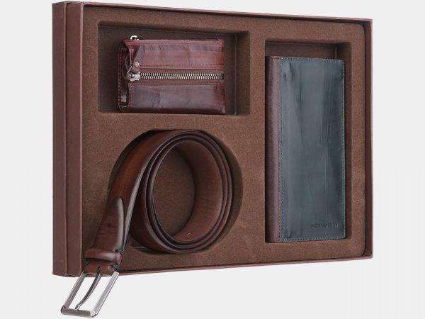 Деловой коричневый подарочный набор ATS-1838