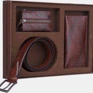 Кожаный подарочный набор ATS-1839
