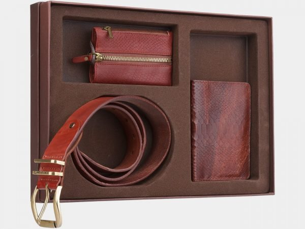 Деловой светло-коричневый подарочный набор ATS-1840