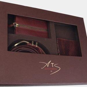 Деловой светло-коричневый подарочный набор ATS-1840 216226