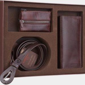 Солидный коричневый подарочный набор ATS-1841