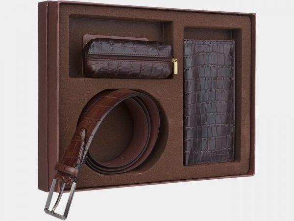 Удобный коричневый подарочный набор ATS-1843