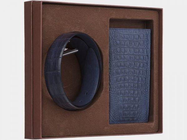 Стильный синий подарочный набор ATS-1848