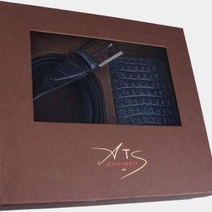 Стильный синий подарочный набор ATS-1848 216202