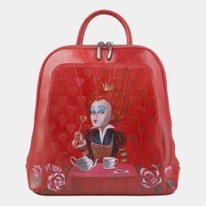 Функциональный красный рюкзак с росписью ATS-2472