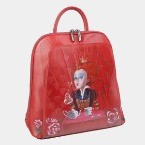 Удобный красный рюкзак с росписью ATS-2472 215171