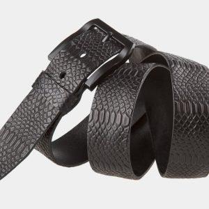 Неповторимый черный мужской джинсовый ремень ATS-815 217097