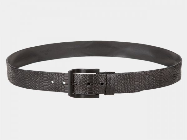 Неповторимый черный мужской джинсовый ремень ATS-815