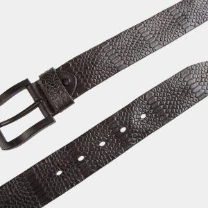 Неповторимый черный мужской джинсовый ремень ATS-815 217096