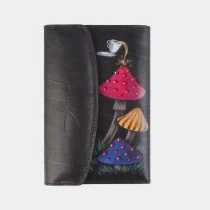 Уникальный черный аксессуар с росписью ATS-2485