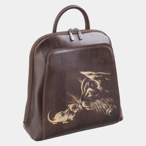 Уникальный коричневый рюкзак с росписью ATS-2487 215153