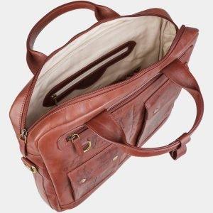 Стильный светло-коричневый портфель с росписью ATS-1938 216113