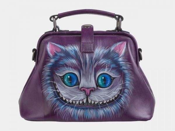 Модная фиолетовая сумка с росписью ATS-2496
