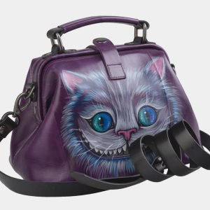 Модная фиолетовая сумка с росписью ATS-2496 215119