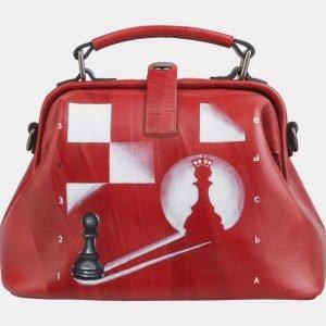 Уникальная красная сумка с росписью ATS-2497