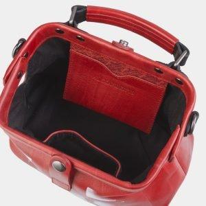 Уникальная красная сумка с росписью ATS-2497 215116
