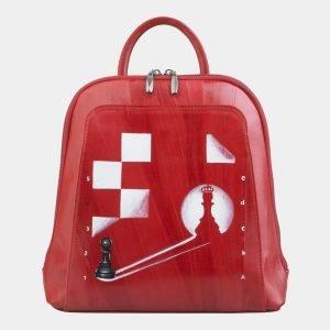 Стильный красный рюкзак с росписью ATS-2495