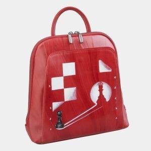 Стильный красный рюкзак с росписью ATS-2495 215124