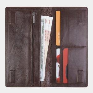 Кожаный коричневый портмоне с росписью ATS-2494 215130