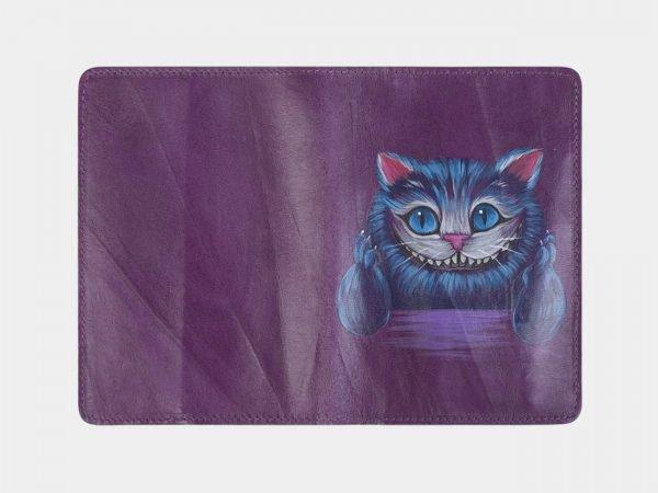 Уникальный фиолетовый аксессуар с росписью ATS-2493