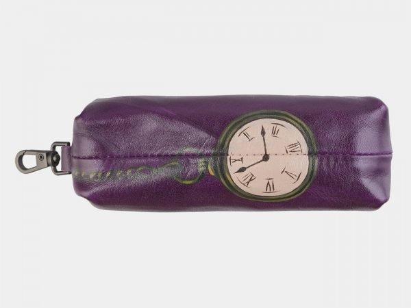 Уникальный фиолетовый аксессуар с росписью ATS-2490