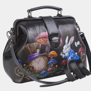 Солидная синяя сумка с росписью ATS-2498 215109
