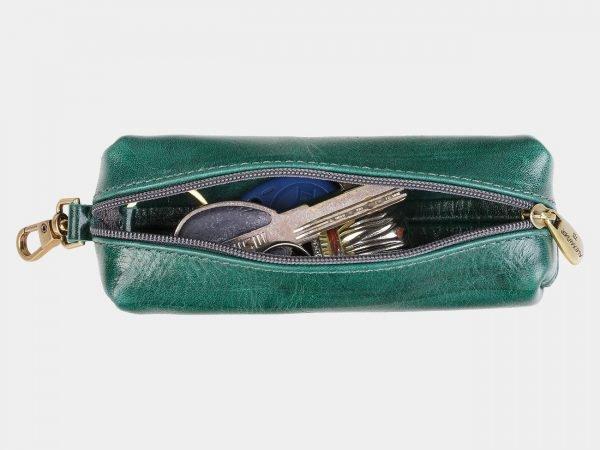 Кожаная зеленая ключница ATS-1929